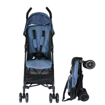 Akeeva Alvis Pocket Travel Stroller (Linen Blue)