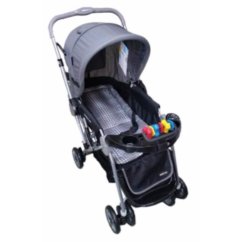 Baby 1st CD-S036B Stroller w/ Toy and Reversable Handle (Grey)