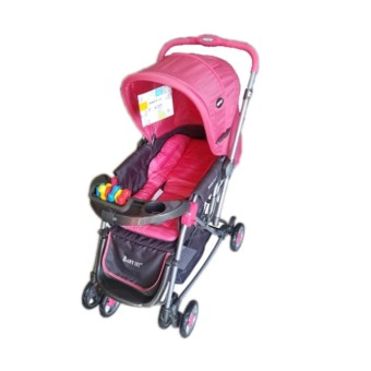 Baby 1st Stroller with Reversible Handle and Rocking FeatureS-036CR (peach)