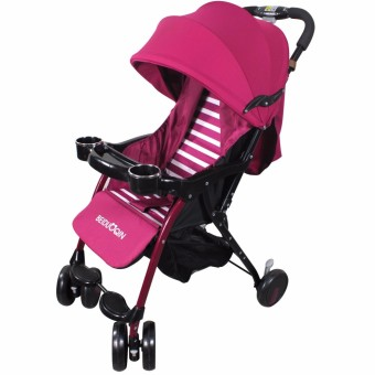 Baby Four Wheel Stroller with Food tray and bottle holder B-210(Violet)