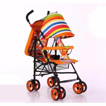 Baby Strollers Ultra-Portable Child Carts Kids Trolley 5102 (Orange)