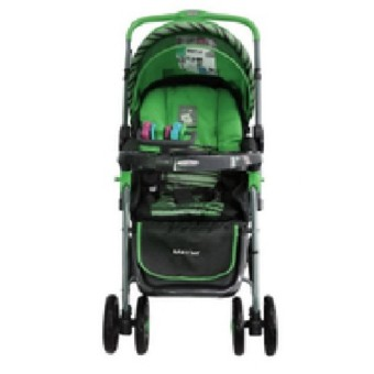 Baby1st S034EB Stroller 3-Position Reclining Backrest Dual Brake Rear (Green)