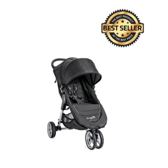 [Baobab] Baby Jogger 2016 City Mini 3W Single Stroller - Black/Gray