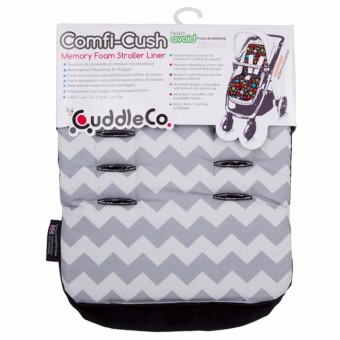 CUddle Co. Stroller Liner - Memory Foam Grey Zigzag