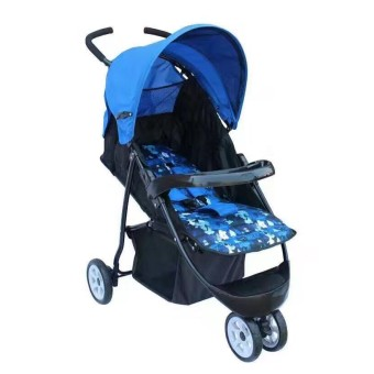 Foldable Compact Baby Stroller with Canopy Style #2006 (Blue)