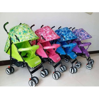 Foldable Compact Baby Stroller with Canopy Style #208 (Pink)