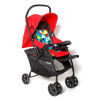 Happy Dino High Impact Stroller (Red)