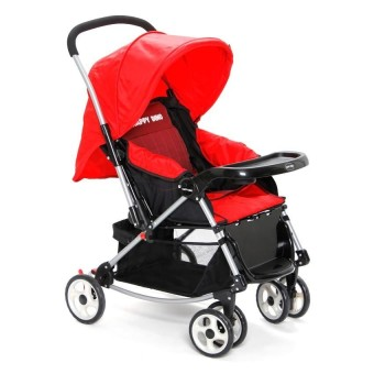 Happy Dino Luxury 4 Way Rocker Stroller (Red)