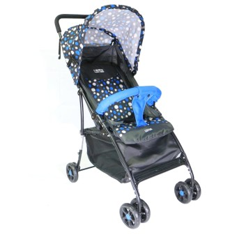 Happy Dino Luxury Stroller (Blue)