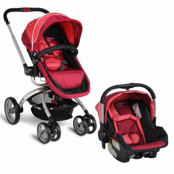 Infanti Travel System Convertible Baby 4 Wheeled Cart Stroller with Reversible Seat and Bassinet