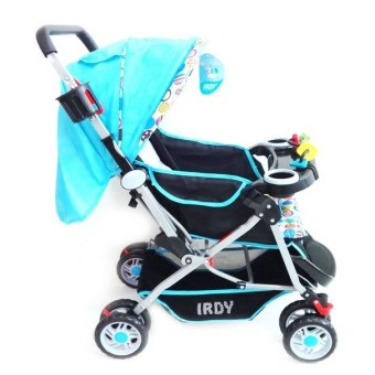 Irdy 3-way Reversible 19KTP Stroller w/ food tray and bottle holder (blue)