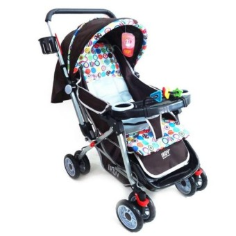 Irdy 3-way Reversible 19KTP Stroller w/ food tray and bottle holder (brown)