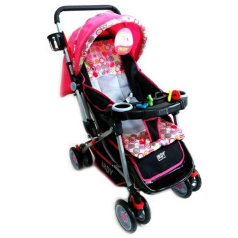 Irdy 3-way Reversible 19KTP Stroller w/ food tray and bottle holder (pink)
