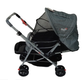 Irdy S0829a Stroller With Mosquito Net Gray Baby
