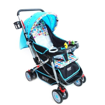 IRDY Stroller with Foodtray and Bottle Holder (Blue)
