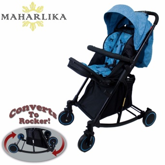 MK Folding Convertible baby stroller rocker for baby 0 to 3 years old BLUE T609