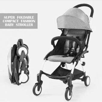 New 2017 best store baby shop foldable portable baby stroller(Gray)