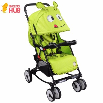 Phoenixhub Multi-purpose light weight cartoon designed baby stroller GREEN XBD-6011