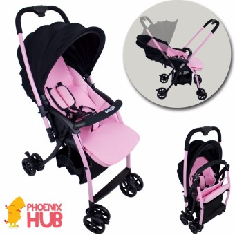 Phoenixhub Multipurpose Folding Baby life stroller for 0 to 36 months old baby up 15kg PINK