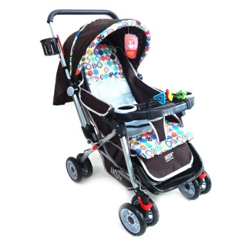 Toy Collections Irdy Reversible 3-Way Stroller (Brown)