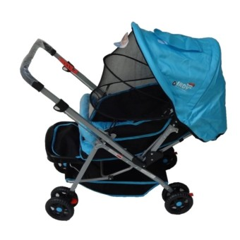 Toy Collections IRDY S0829A Stroller with Mosquito Net (blue)