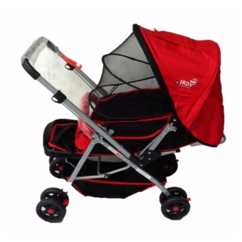 Toy Collections IRDY S0829A Stroller with Mosquito Net (red)