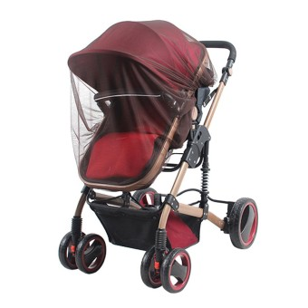 Universal Insect Mosquito Bug Safe Mesh Net Full Cover for BabyPrams Strollers Bassinets Cradles Buggy Pushchairs Coffee