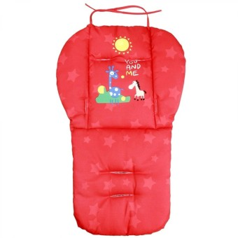Universal Kids Baby Cotton Cartoon Double Sided Available Stroller Seat Pad Cushion Red