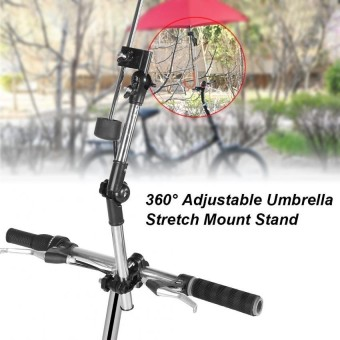xiyoyo 360? Adjustable Umbrella Baby Strollerstretch MountStandholder (Black) - intl