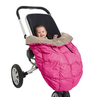 7Am Enfant Cygnet: 3-In-1 Cover For The Baby Carrier- Car-Seat And Stroller- Neon Pink/Beige