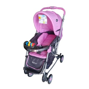 Baby 1st Stroller with Reversible Handle and Rocking Feature S-036CR (pink)