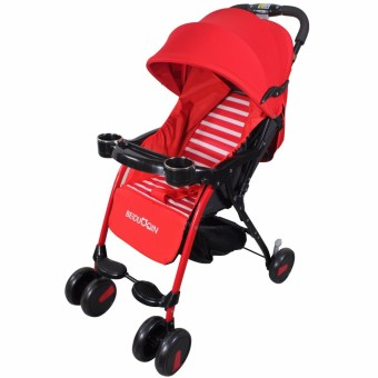 Baby Four Wheel Stroller with Food tray and bottle holder B-210(Red)