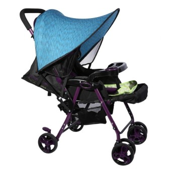 Baby Stroller Cover Buggy Infant Car Seat Sun Shade Blue - intl