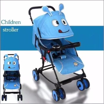 Baby Strollers Ultra-Portable Child Carts Kids Trolley (Blue)