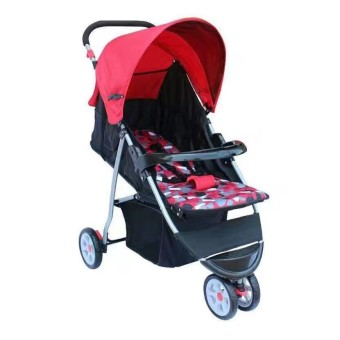 Foldable Compact Baby Stroller with Canopy Style #2006 (Red)