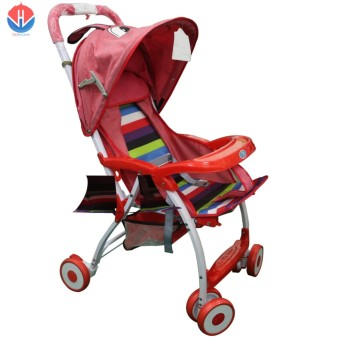 Foldable Portable Baby Stroller (Red)