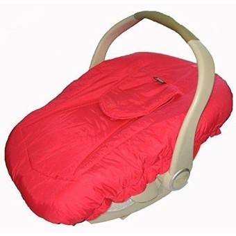Jolly Jumper Arctic Sneak A Peek Infant Car Seat Cover Red