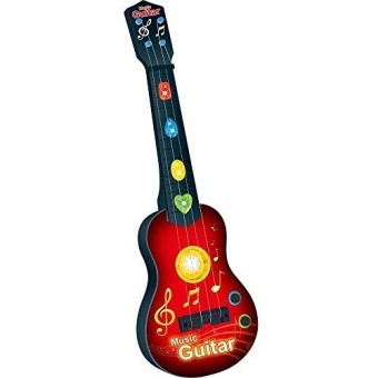 Lightahead Kids Rock And Roll Electric Guitar Toy With Preset Music & Vibrant Sounds (RED)