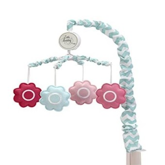 Little Bedding By Nojo Musical Mobile- Tickled Pink