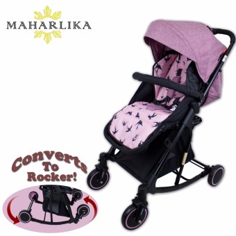 MK Folding Convertible baby stroller rocker for baby 0 to 3 years old PINK T609