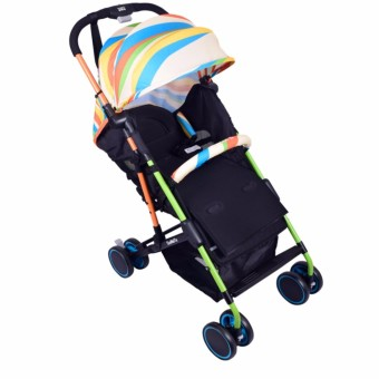 MMC 3-folds Baby Stroller w/ 360 Degree Rotating Wheels -T06 Multicolor