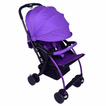 MMC 360 Degree Rotating Wheels Baby Foldable Stroller T05 - Violet