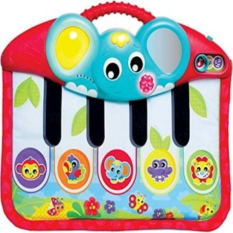 Playgro 0186367 Music And Lights Piano & Kick Pad For Baby Infant Toddler STEM Toy For Baby