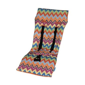 Tivoli Couture Nu Comfort Memory Foam Stroller Pad And Seat Liner- Zig Zag Orange