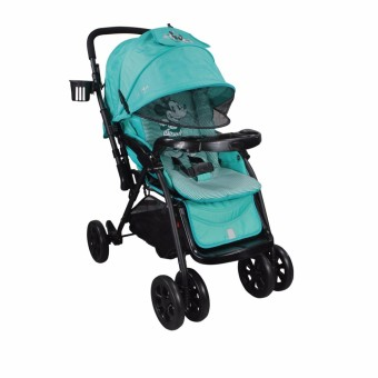 Viki newborn Baby Comfortable outdoor Umbrella Stroller with food tray and bottle holder (Aqua Blue)